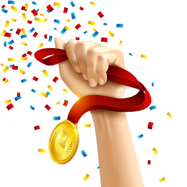 hand holding winners medal award 1284 13592 - hand-holding-winners-medal-award_1284-13592