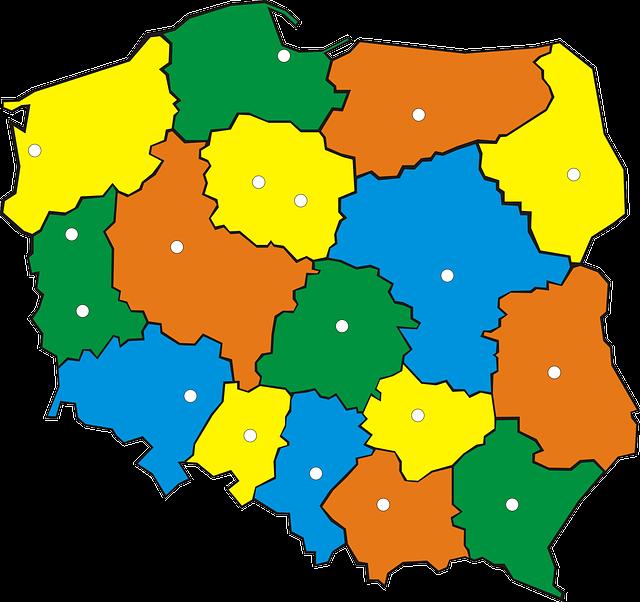 Województwa w Polsce – infografika