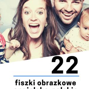 angielska rodzina fiszki 300x300 - 22 fiszki obrazkowe angielsko-polskie: Rodzina